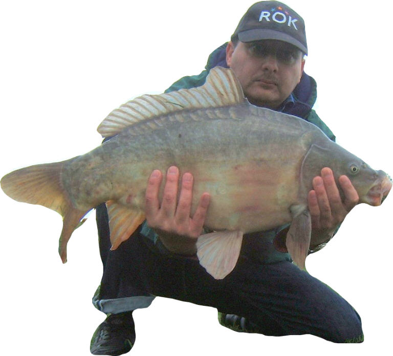 23lb carp caught on toasted bread