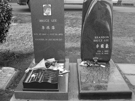 Bruce Lee Casket Bruce lee's grave